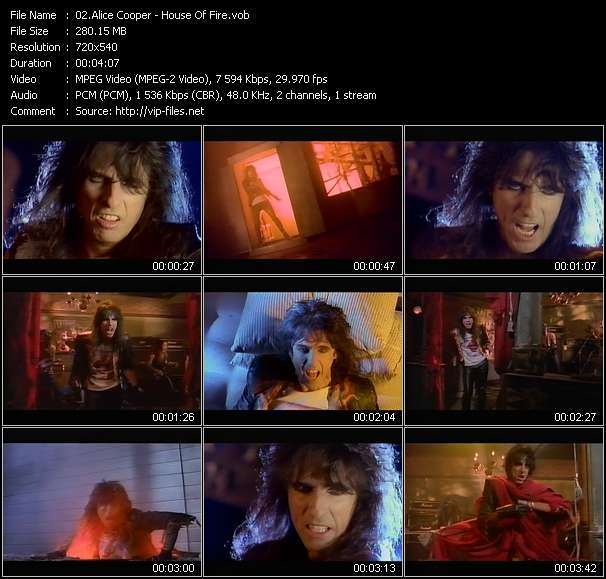 Alice Cooper video vob