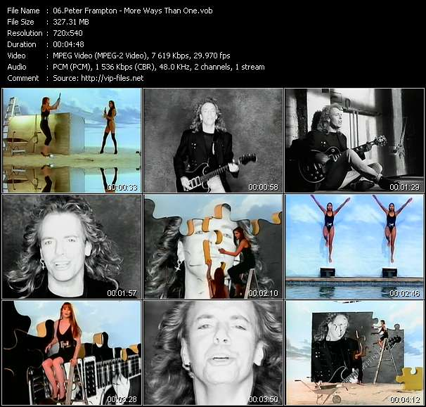 Screenshot of Music Video Peter Frampton - More Ways Than One