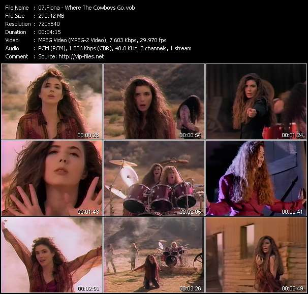 Screenshot of Music Video Fiona - Where The Cowboys Go