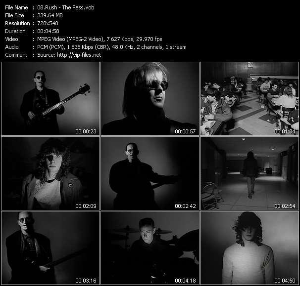 Screenshot of Music Video Rush - The Pass