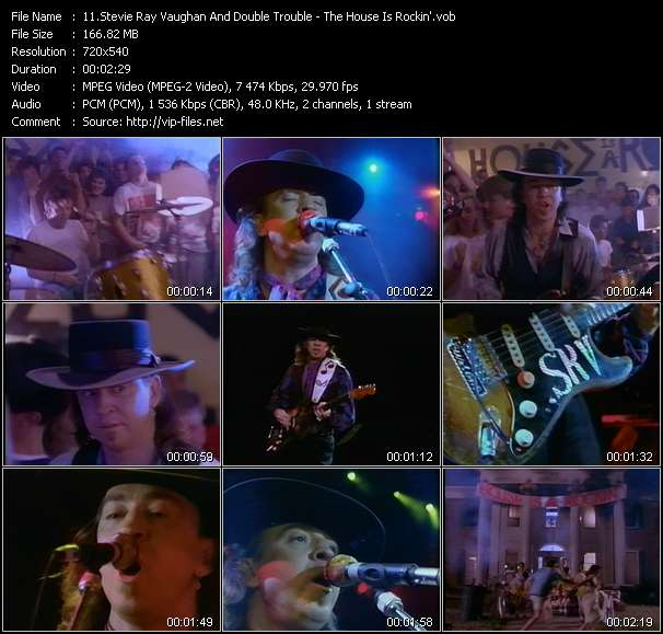 Screenshot of Music Video Stevie Ray Vaughan And Double Trouble - The House Is Rockin'