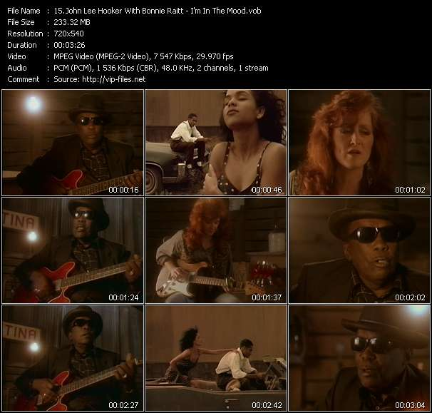 Screenshot of Music Video John Lee Hooker With Bonnie Raitt - I'm In The Mood