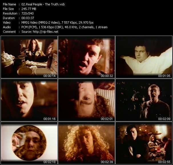 Screenshot of Music Video Real People - The Truth