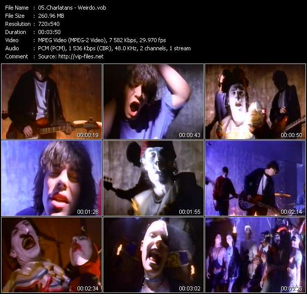 Screenshot of Music Video Charlatans - Weirdo