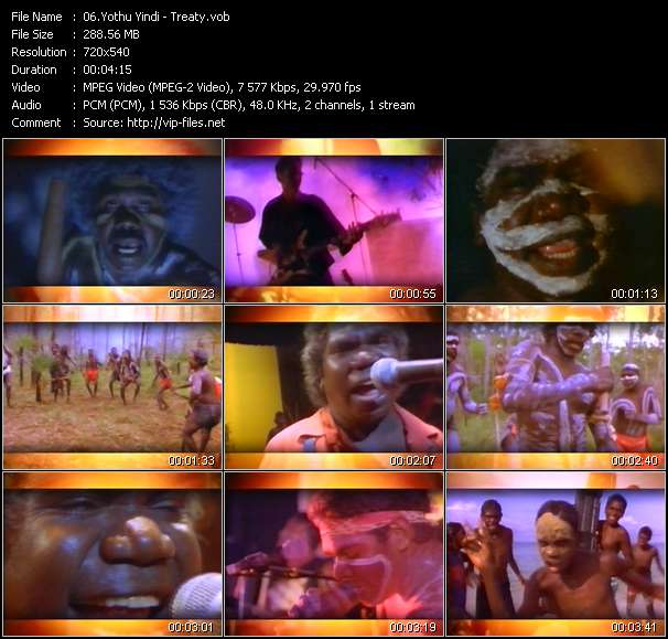 Screenshot of Music Video Yothu Yindi - Treaty