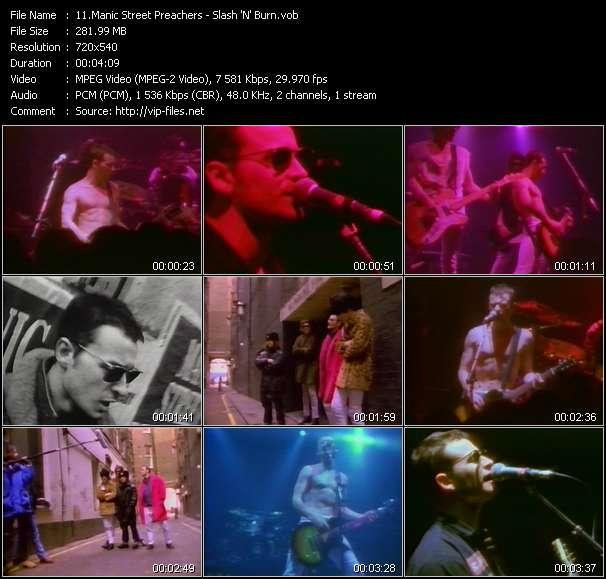 Screenshot of Music Video Manic Street Preachers - Slash 'N' Burn