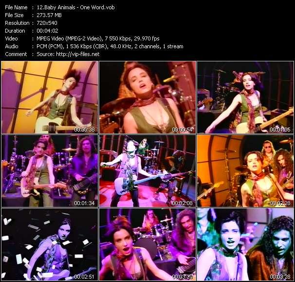 Screenshot of Music Video Baby Animals - One Word