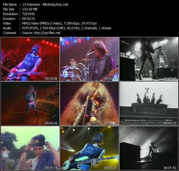 Screenshot of Music Video Ramones - Blitzkrieg Bop