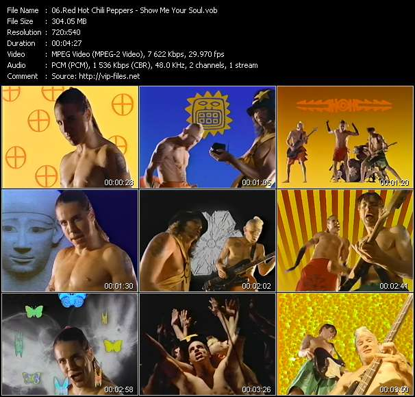 Screenshot of Music Video Red Hot Chili Peppers - Show Me Your Soul