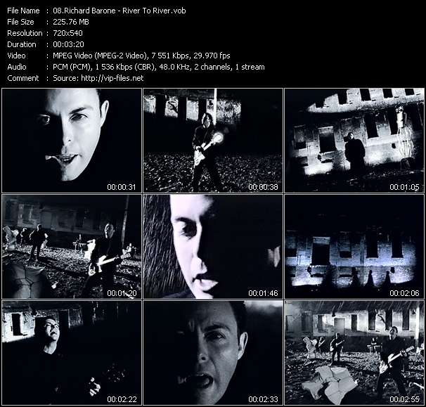 Screenshot of Music Video Richard Barone - River To River