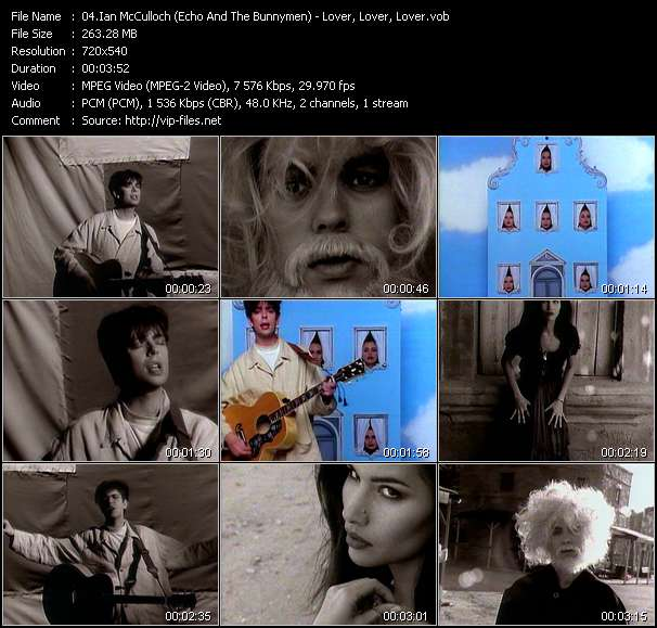 Screenshot of Music Video Ian McCulloch (Echo And The Bunnymen) - Lover, Lover, Lover