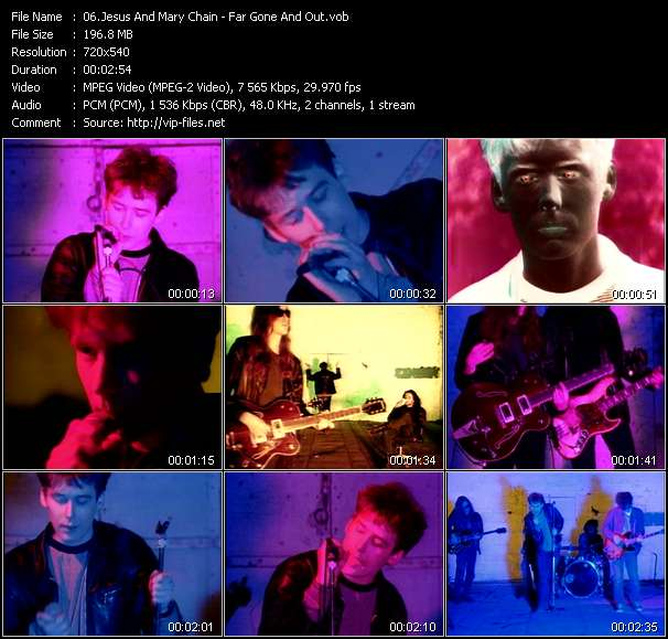 Screenshot of Music Video Jesus And Mary Chain - Far Gone And Out