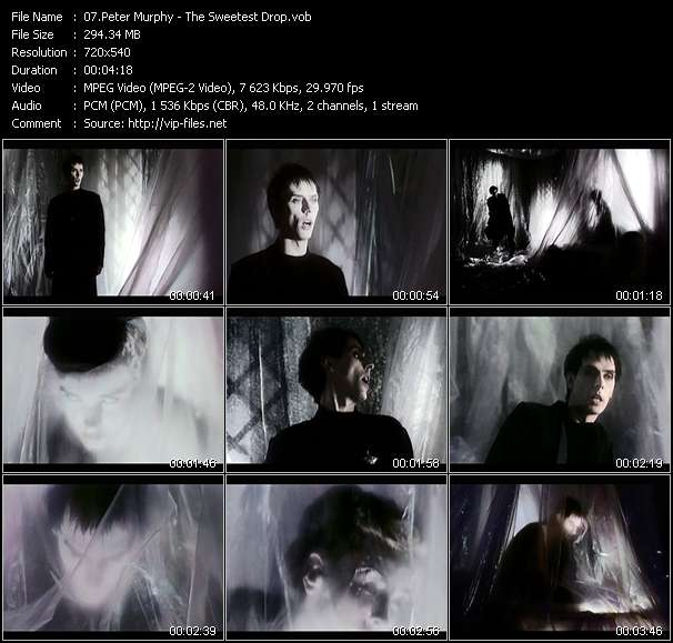 Screenshot of Music Video Peter Murphy - The Sweetest Drop