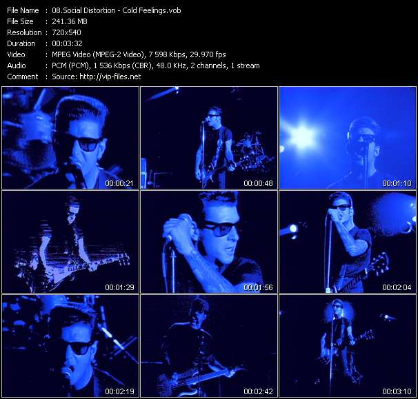 Screenshot of Music Video Social Distortion - Cold Feelings
