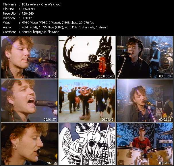 Screenshot of Music Video Levellers - One Way