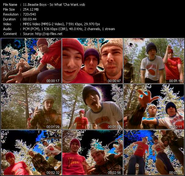 Screenshot of Music Video Beastie Boys - So What 'Cha Want