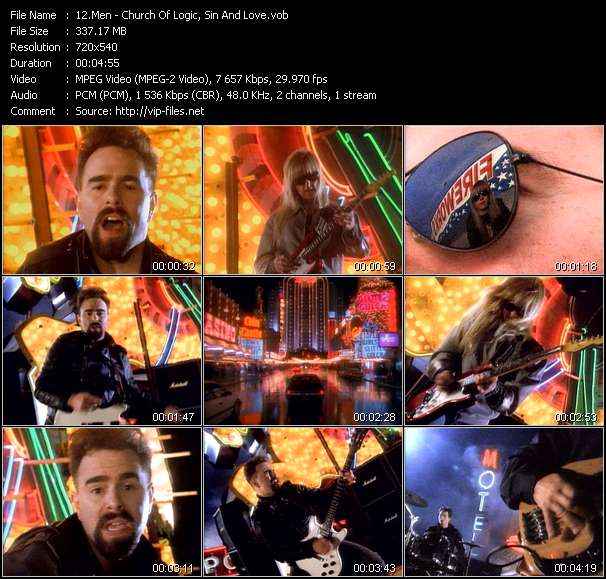 Screenshot of Music Video Men - Church Of Logic, Sin And Love