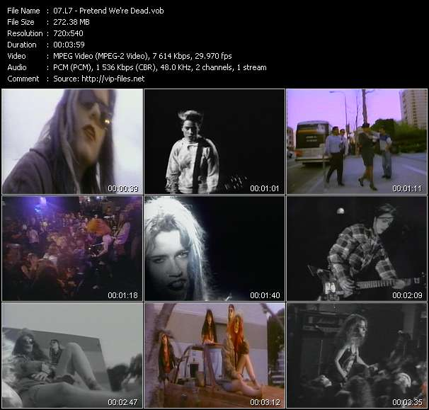 Screenshot of Music Video L7 - Pretend We're Dead
