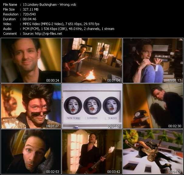 Screenshot of Music Video Lindsey Buckingham - Wrong