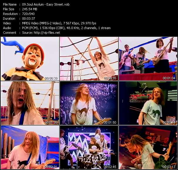 Screenshot of Music Video Soul Asylum - Easy Street