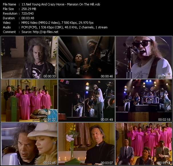Screenshot of Music Video Neil Young And Crazy Horse - Mansion On The Hill