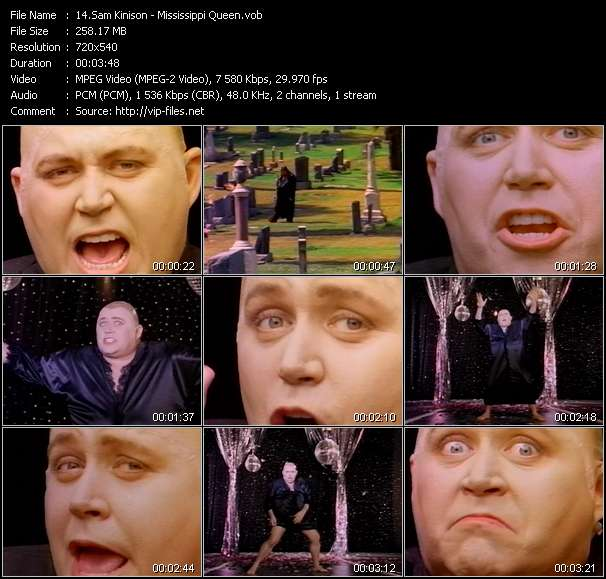 Screenshot of Music Video Sam Kinison - Mississippi Queen