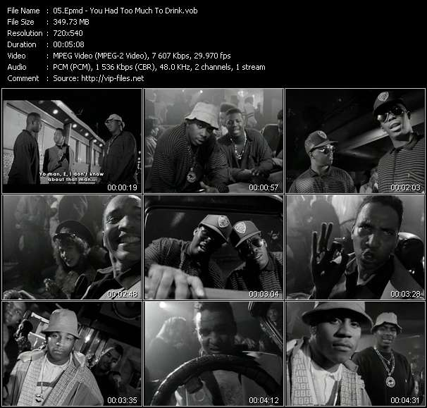 Screenshot of Music Video Epmd - You Had Too Much To Drink