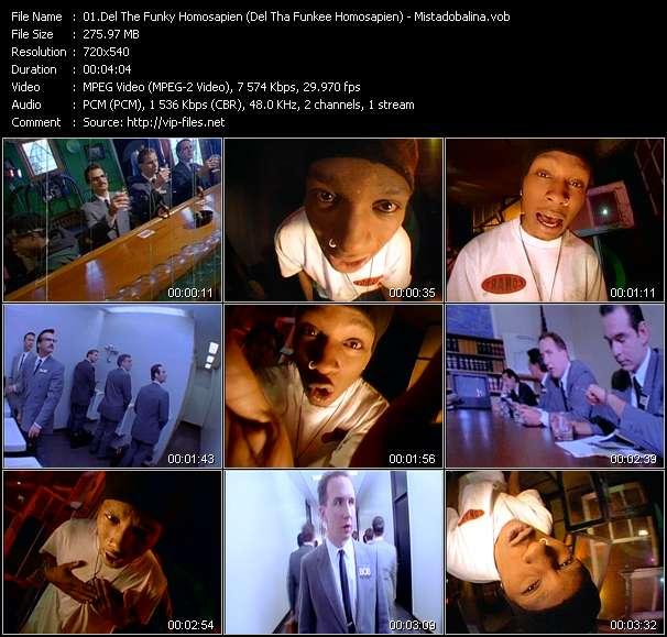 Del The Funky Homosapien (Del Tha Funkee Homosapien) видеоклип vob