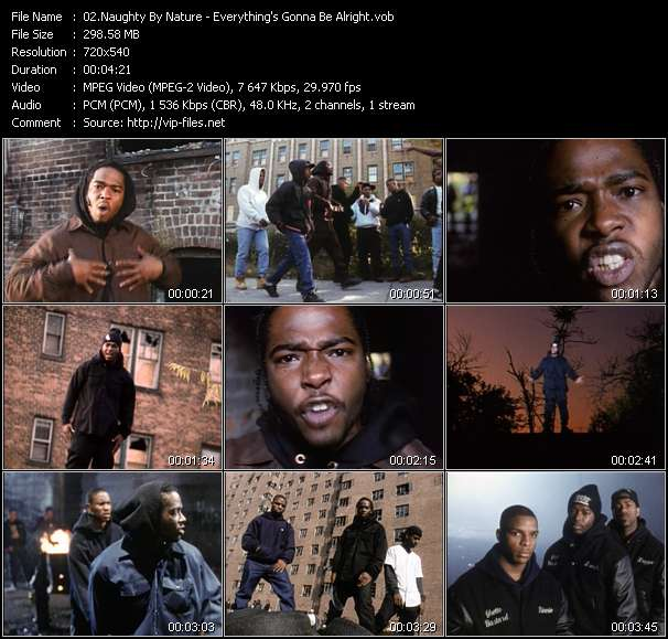 Screenshot of Music Video Naughty By Nature - Everything's Gonna Be Alright