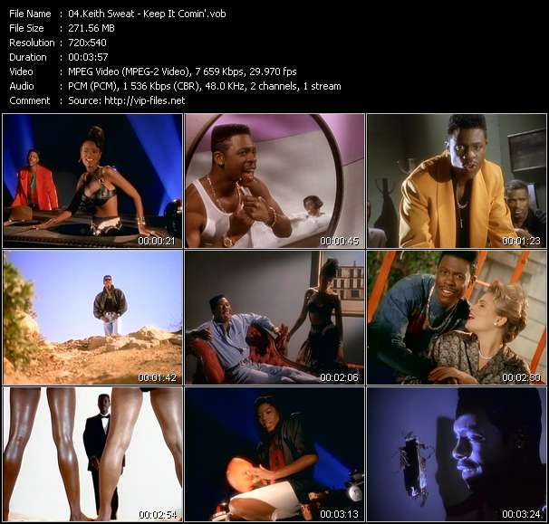 Screenshot of Music Video Keith Sweat - Keep It Comin'
