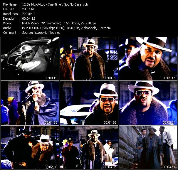 Screenshot of Music Video Sir Mix-A-Lot - One Time's Got No Case