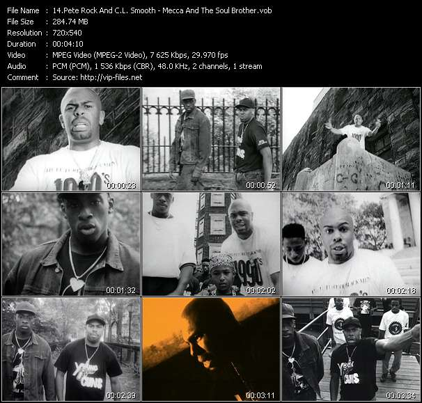Screenshot of Music Video Pete Rock And C.L. Smooth - Mecca And The Soul Brother