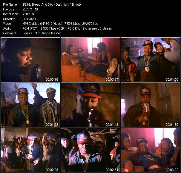 Screenshot of Music Video Mc Breed And Dfc - Just Kickin' It