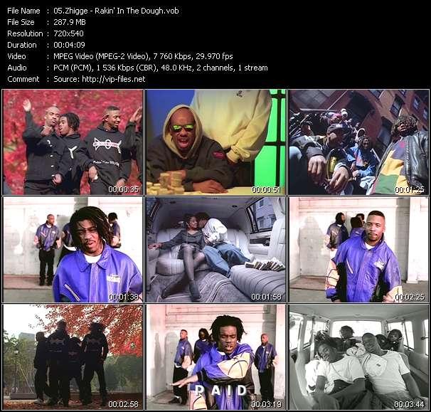 Screenshot of Music Video Zhigge - Rakin' In The Dough