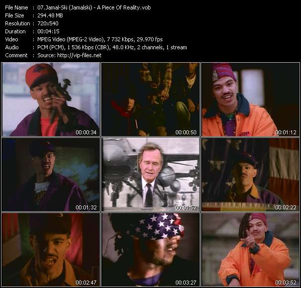 Screenshot of Music Video Jamal-Ski (Jamalski) - A Piece Of Reality