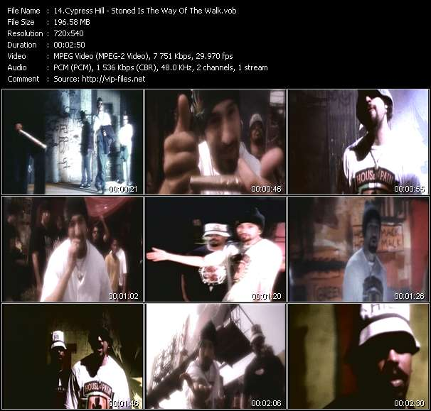 Screenshot of Music Video Cypress Hill - Stoned Is The Way Of The Walk