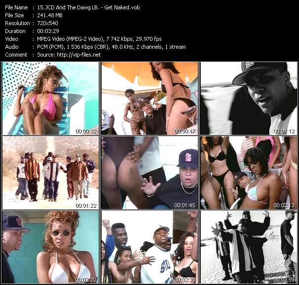 Screenshot of Music Video JCD And The Dawg LB. - Get Naked