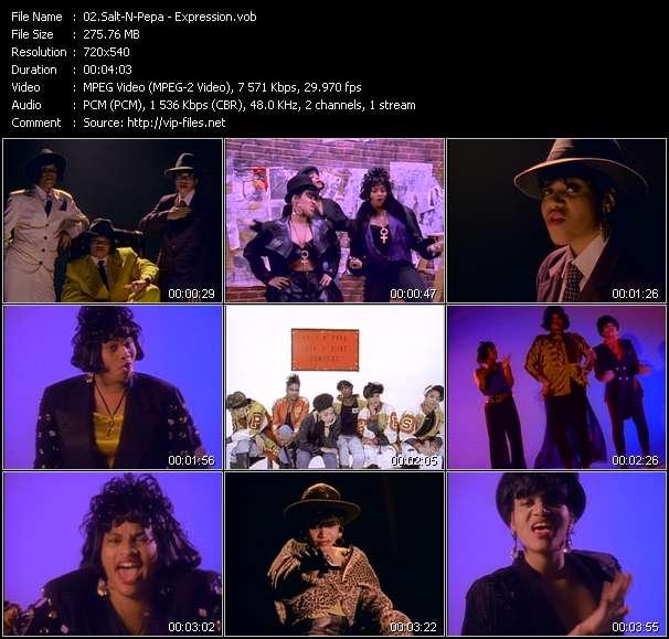 Screenshot of Music Video Salt-N-Pepa - Expression