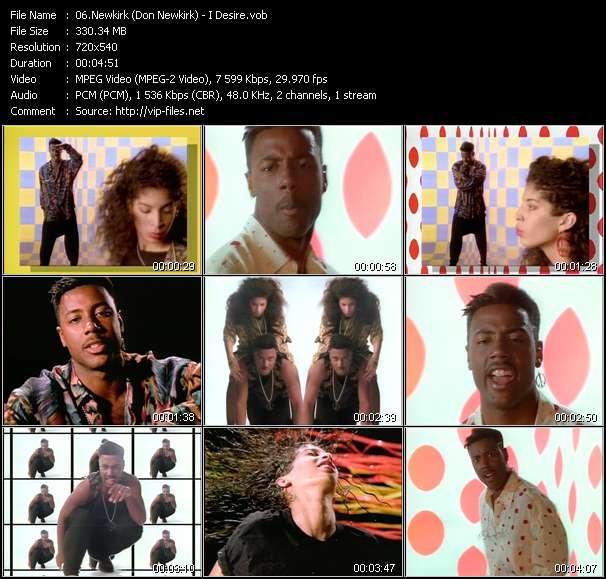 Screenshot of Music Video Newkirk (Don Newkirk) - I Desire