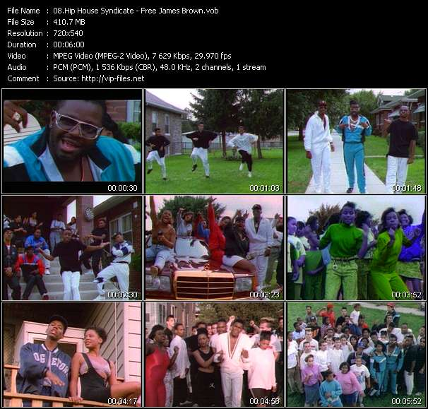 Screenshot of Music Video Hip House Syndicate - Free James Brown