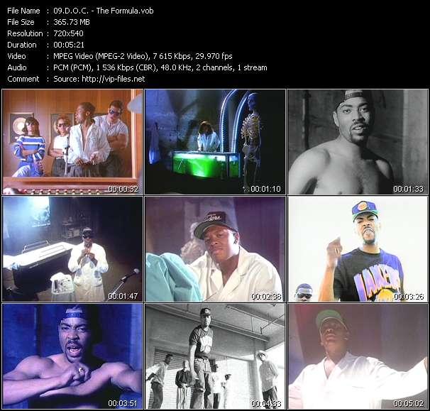 Screenshot of Music Video D.O.C. - The Formula