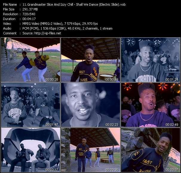 Screenshot of Music Video Grandmaster Slice And Izzy Chill - Shall We Dance (Electric Slide)