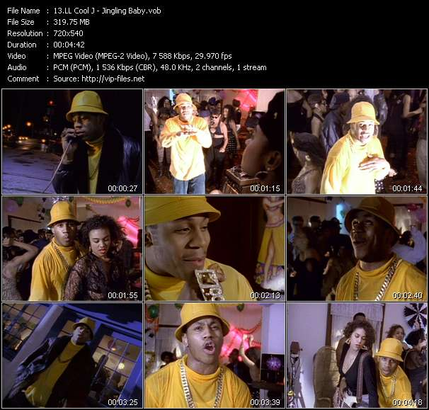 Screenshot of Music Video LL Cool J - Jingling Baby
