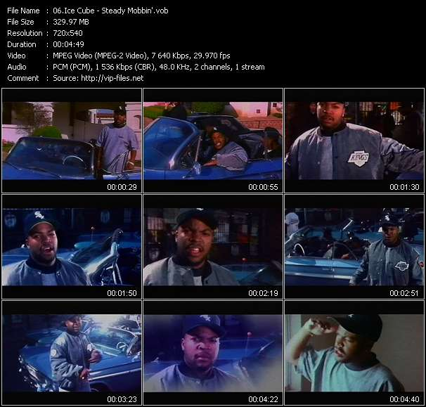 Screenshot of Music Video Ice Cube - Steady Mobbin'