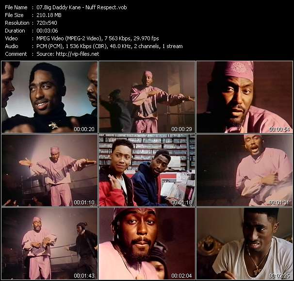 Screenshot of Music Video Big Daddy Kane - Nuff Respect