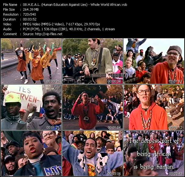 Screenshot of Music Video H.E.A.L. (Human Education Against Lies) - Whole World African