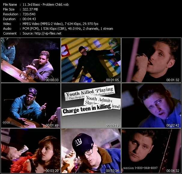 Screenshot of Music Video 3rd Bass - Problem Child