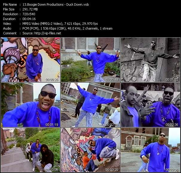 Screenshot of Music Video Boogie Down Productions - Duck Down