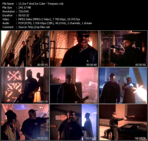 Screenshot of Music Video Ice-T And Ice Cube - Trespass