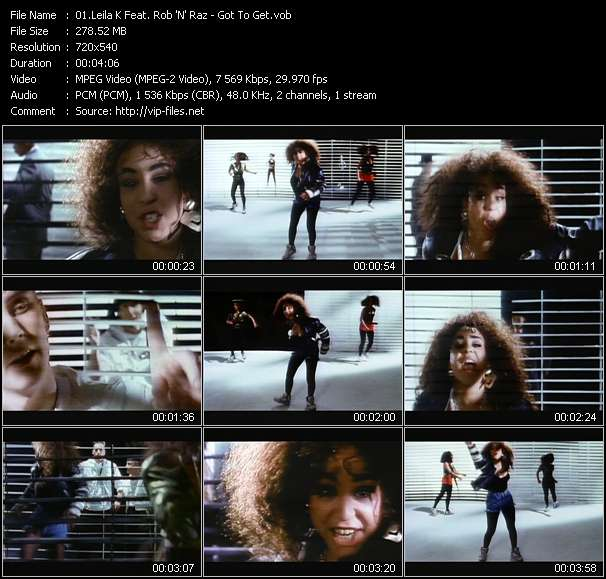 Leila K Feat. Rob 'N' Raz видеоклип vob